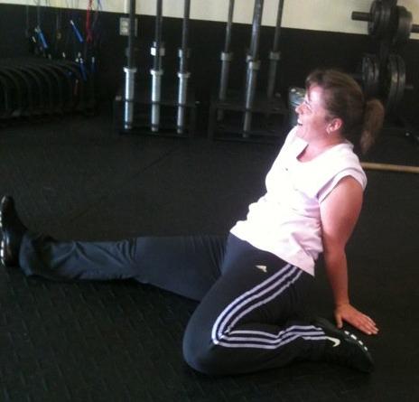 Shann at CrossFit 2