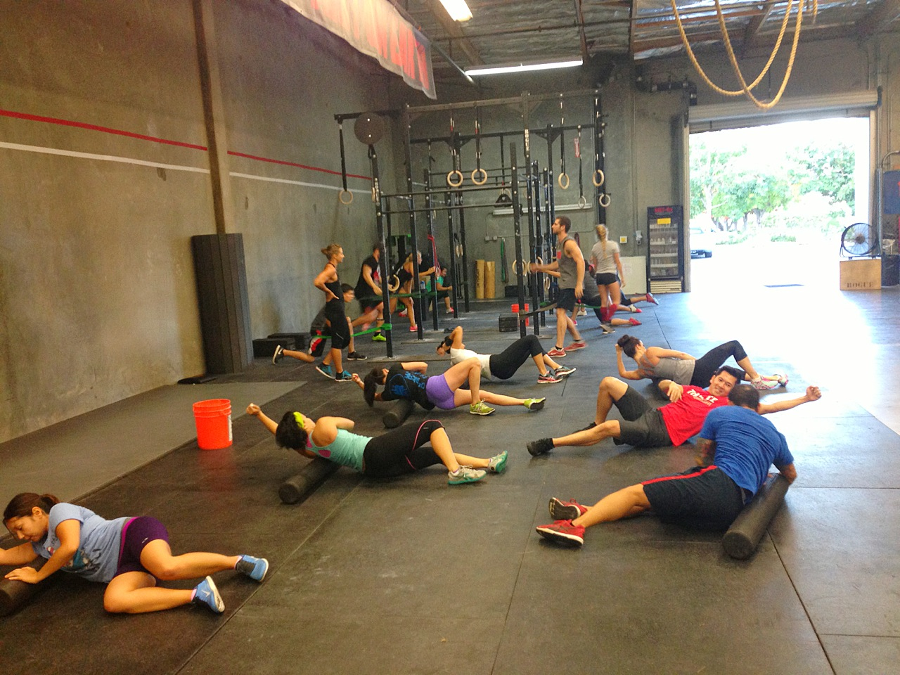 The 5:30 PM class doing the dirty work