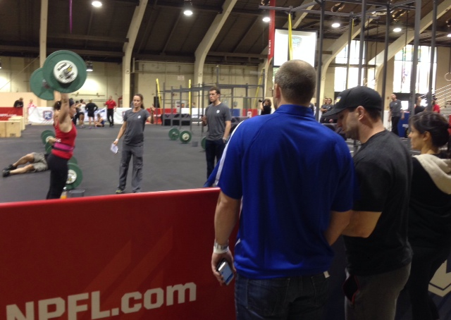 Tonia at the National Pro Fitness League combine