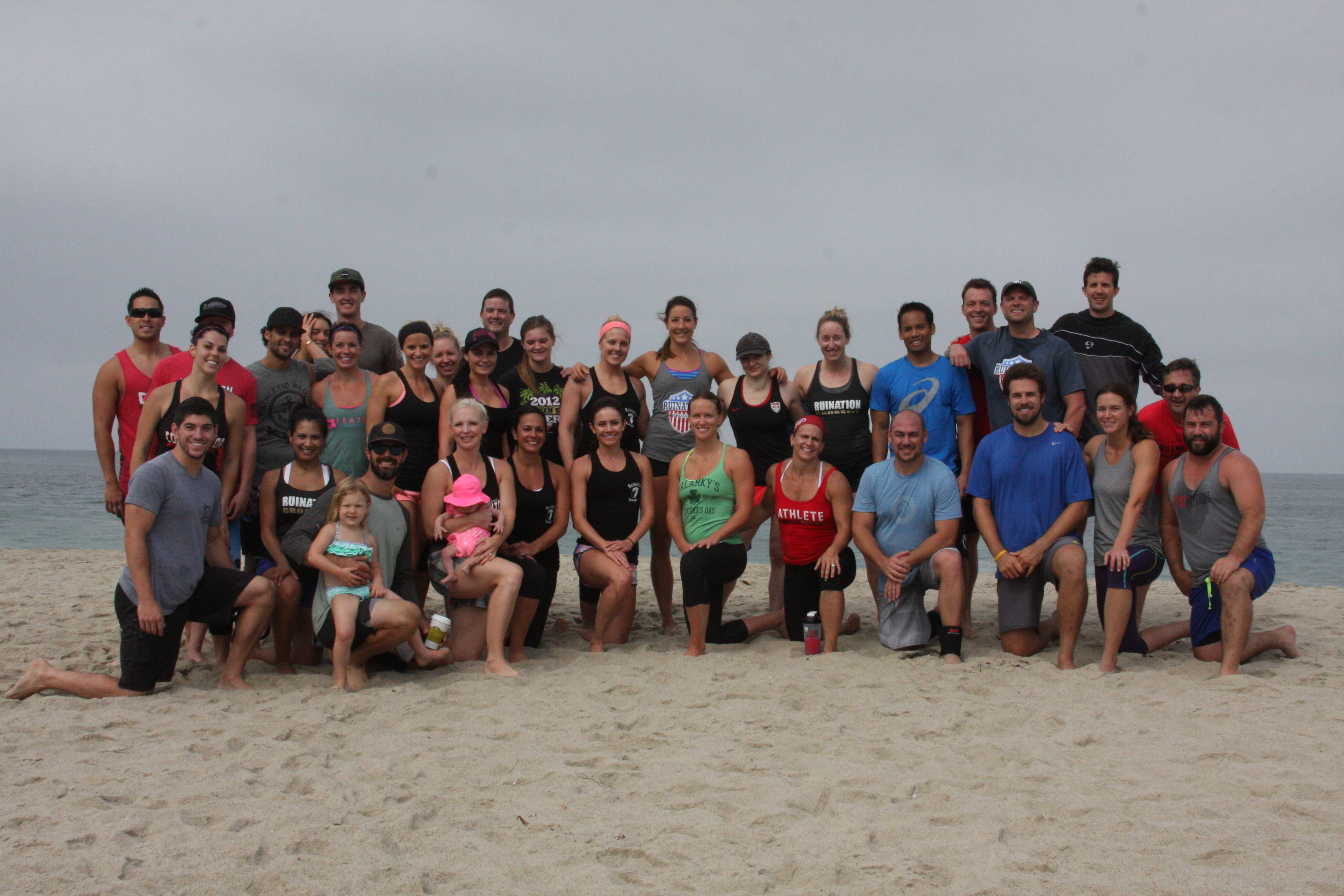 Great turn out for last Saturdays beach WOD