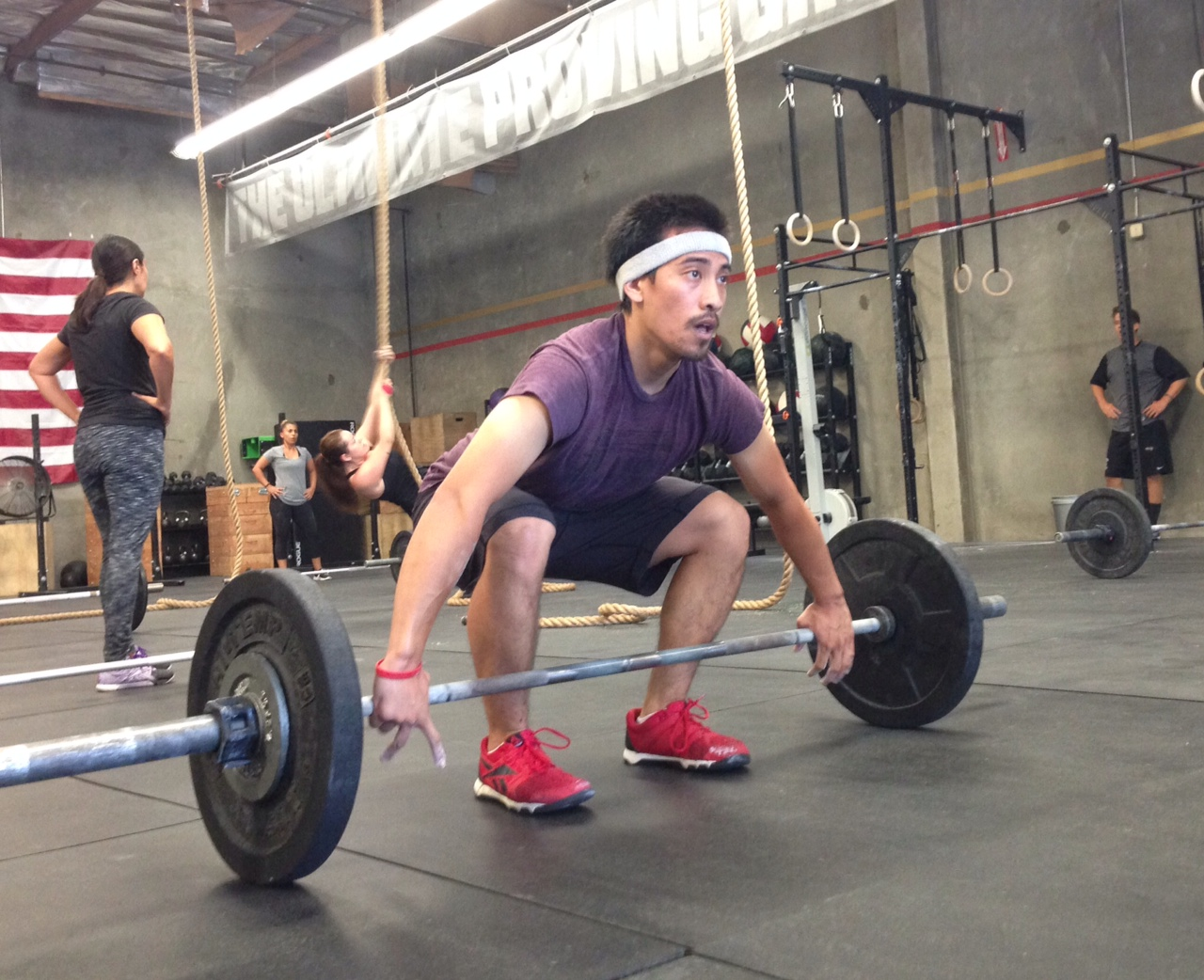 Nate setting up for a snatch