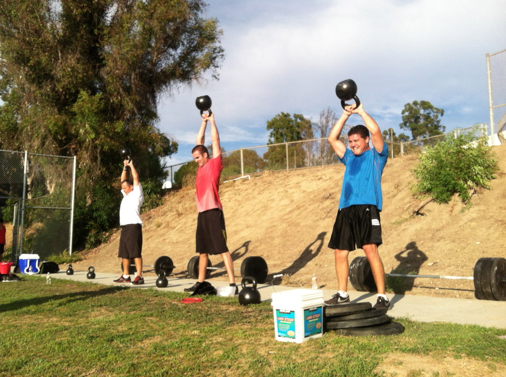 Kettle-bells in the park