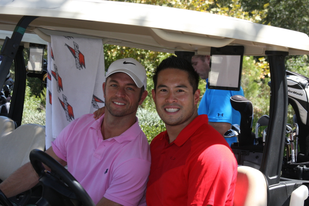 Andy and Rich at the 2014 Ruination charity golf tournament