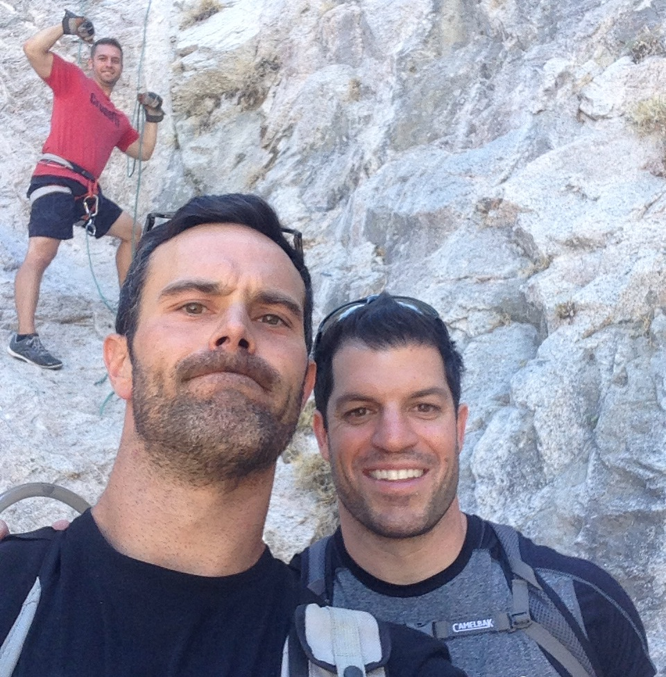 Repelling Selfie with Andy and Jon R.