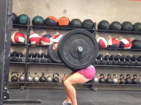 Erica 225# 3 RM back squat
