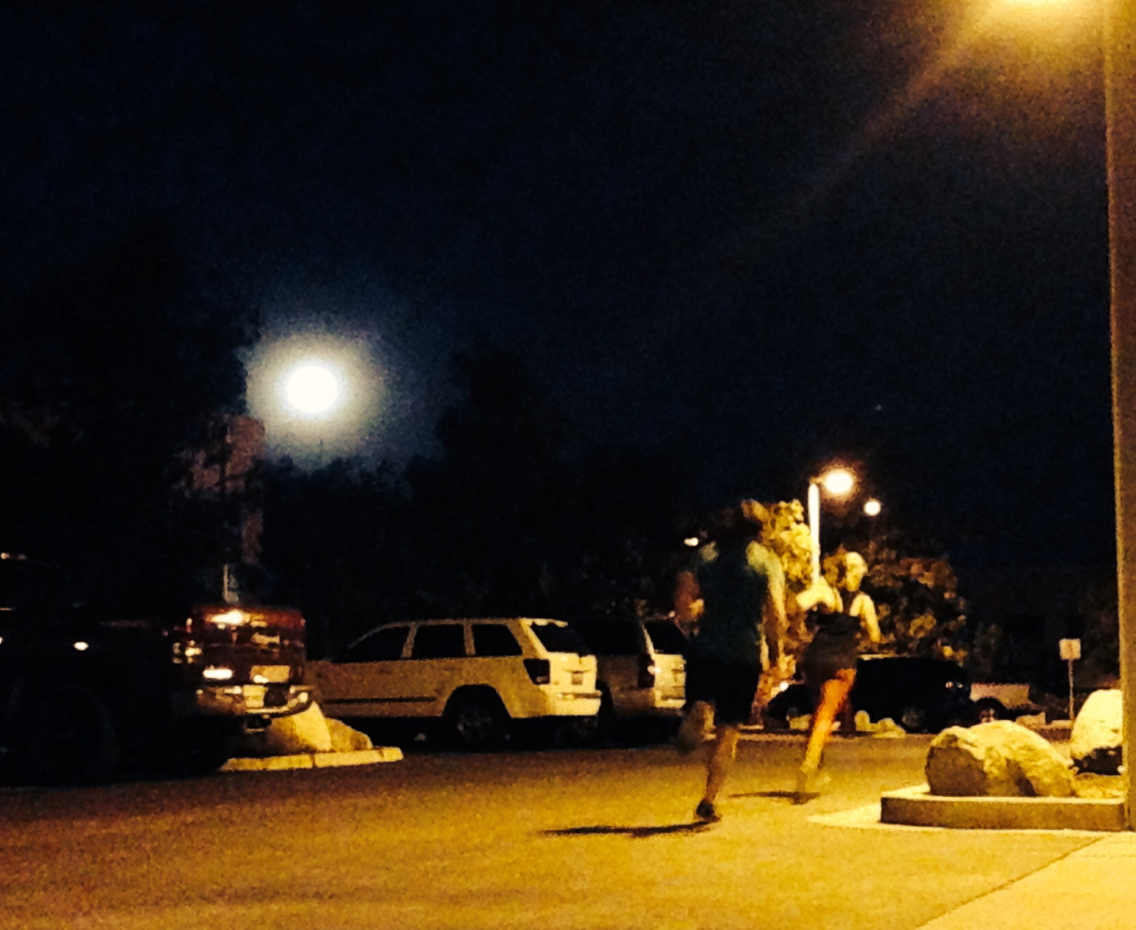 A full moon, 200 meter repeats and burpees…. doesn't get any better
