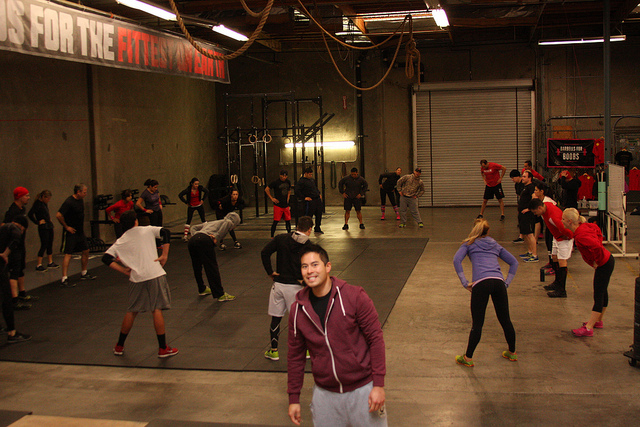 """2012 """"12 days of Christmas"""" WOD, Look at that empty gym."""