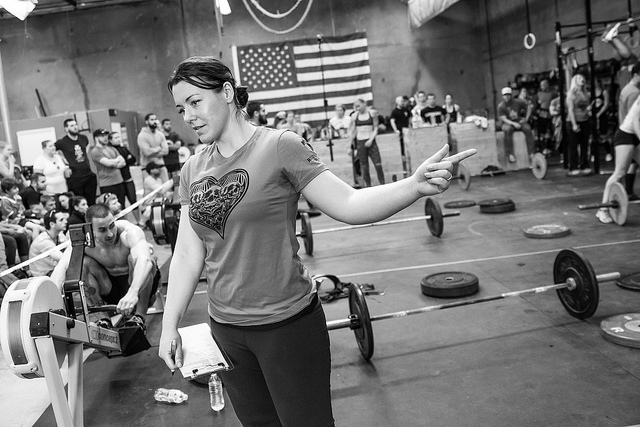 Koaleen, judging at the 2014 Cupids Massacre. If you're interested in volunteering or judging at this years event please contact shannon@ruinationcrossfit.com