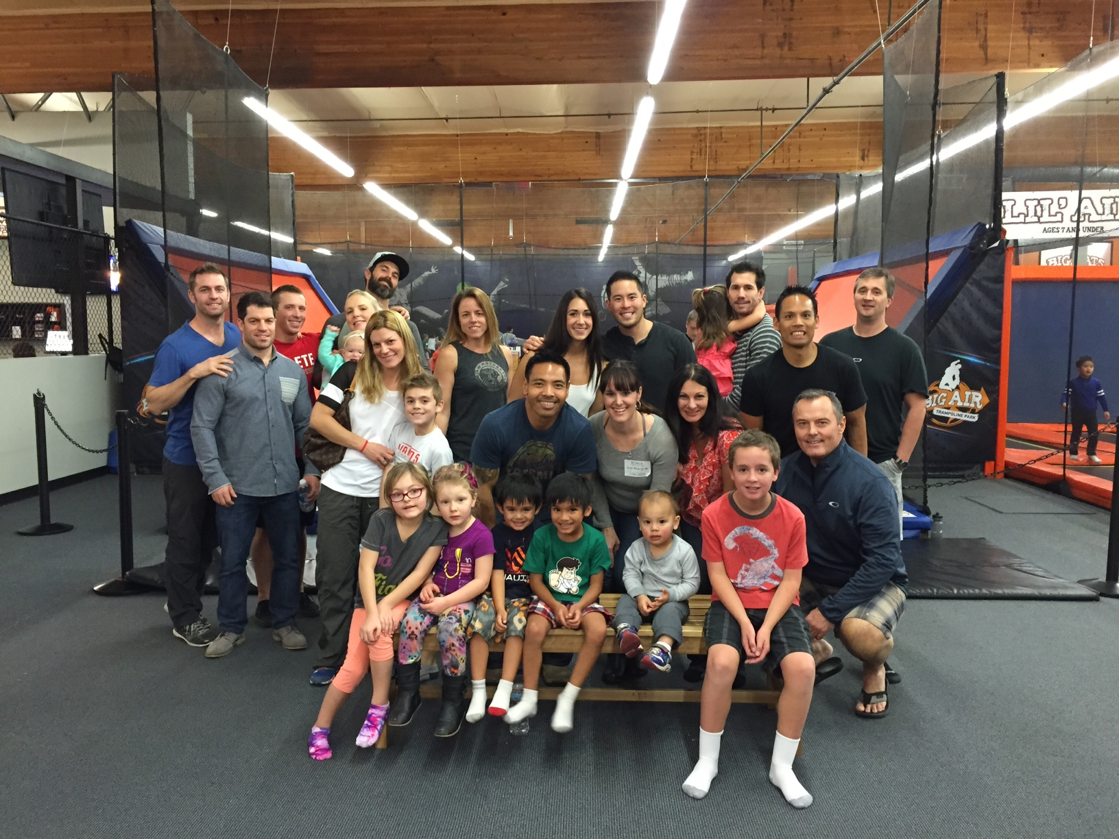 Family night at Big Air trampoline park